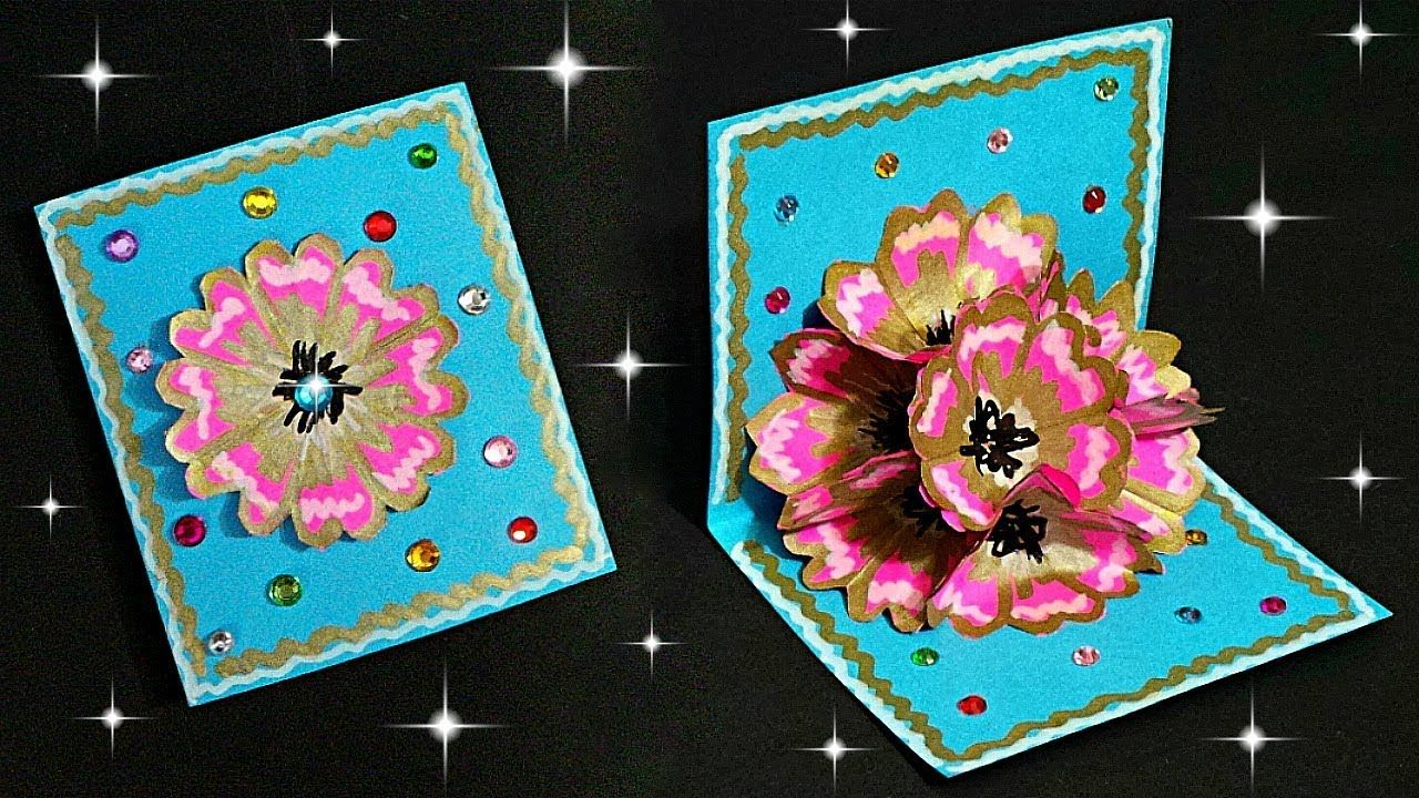 Diy Pop Up Flower Card Tutorial How To Make Pop Up Card 3d