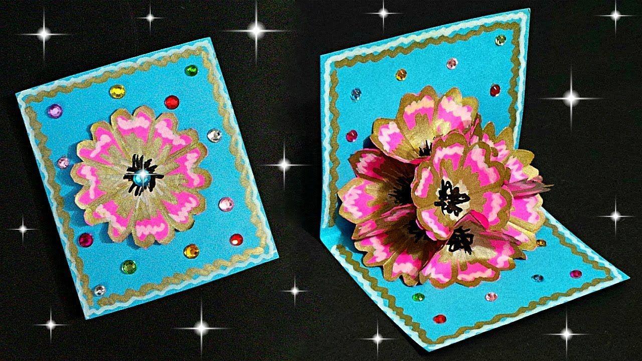 Diy popup flower card tutorial how to make popup
