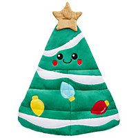 Petco Holiday Multi-Squeaker Christmas Tree Dog Toy