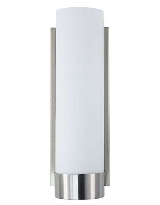 Linea Di Liara Elina Wall Sconce One Light Bath Vanity Lamp Brushed Nickel With Frosted Gl Shade