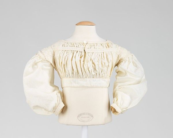 Bodice. 1837-1840. American. Cotton. Brooklyn Museum Costume Collection at The Metropolitan Museum of Art.