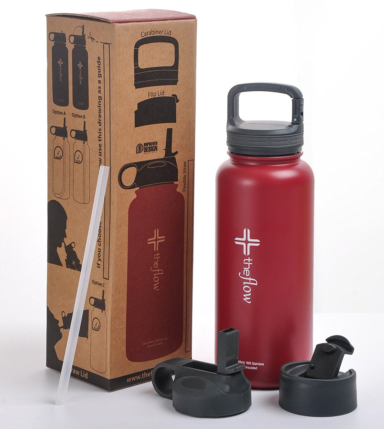 The Flow Stainless Steel Water Bottle Double
