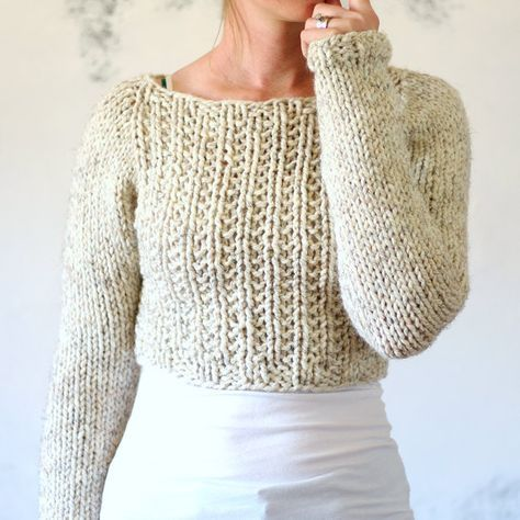 Crop Top Sweater Knitting Pattern Instruction On How To Knit My
