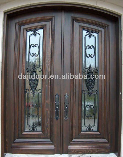 Puertas De Madera Buscar Con Google Arched Exterior Doors Solid Wood Doors Exterior Wrought Iron Doors
