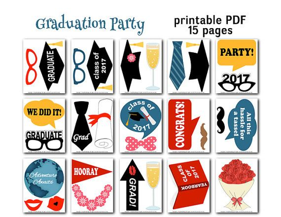 photograph regarding Free Printable Graduation Photo Booth Props identify Commencement Photograph Booth Printable Props 2018 Commencement Occasion