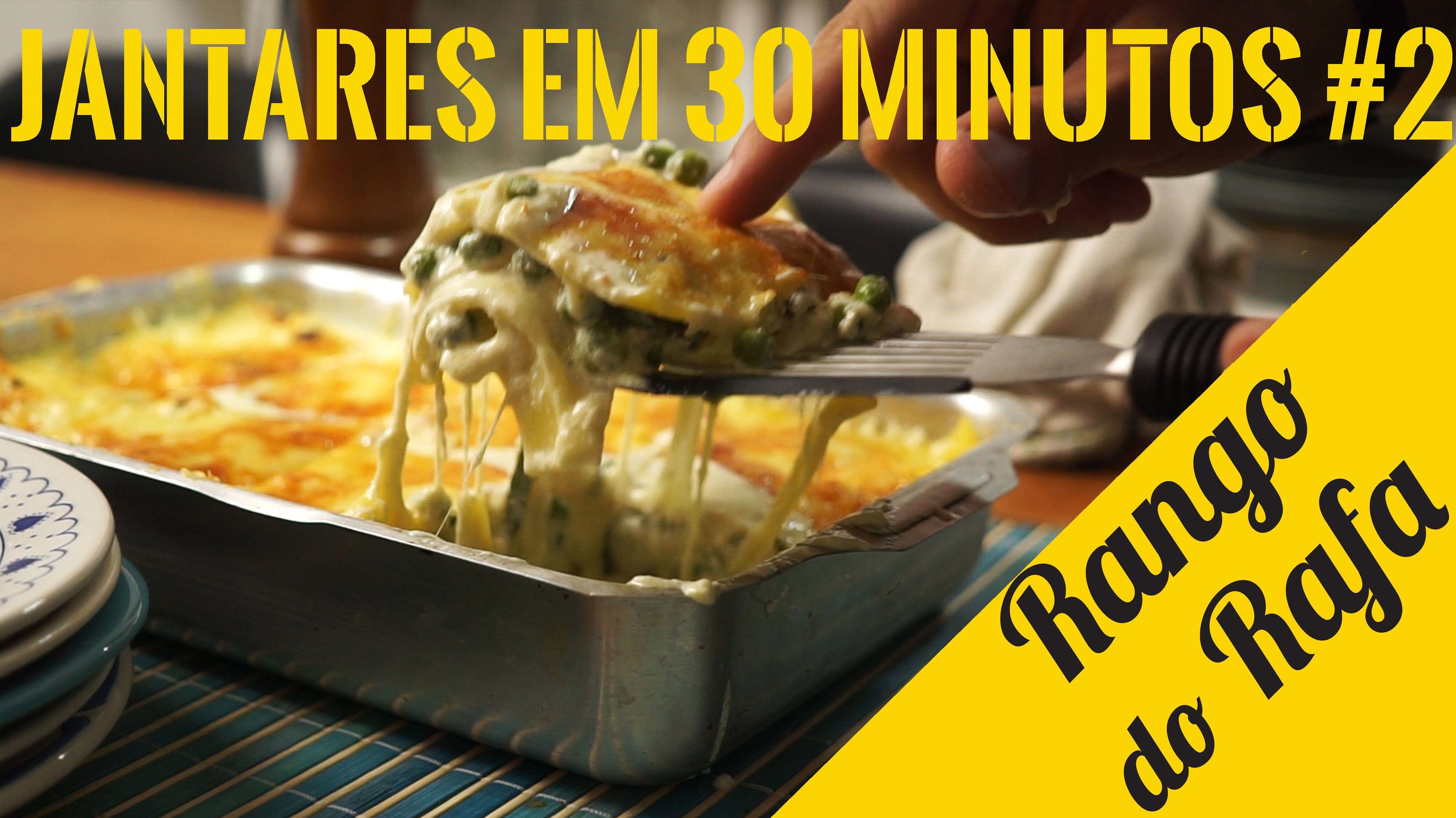 Lasanha 4 queijos em Meia Hora - Rango do Rafa