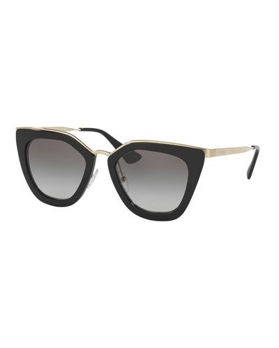 Prada Sunglasses Black And White