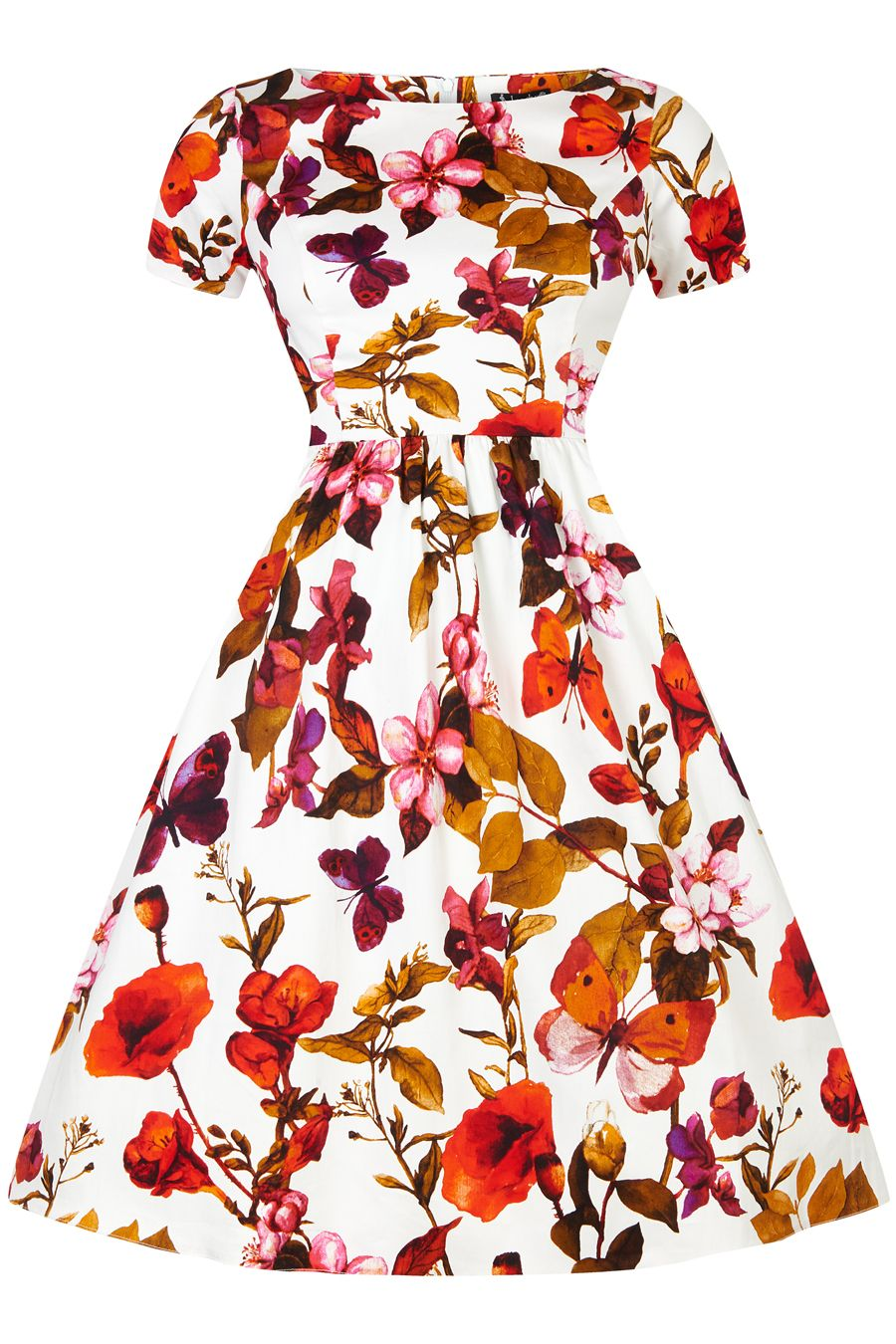 Brand New to Lady V London, the Eloise Dress features a 1950s style flared skirt and has a high...