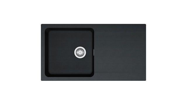 franke kitchen sinks orion oid 611 94 tectonite carbon black. beautiful ideas. Home Design Ideas