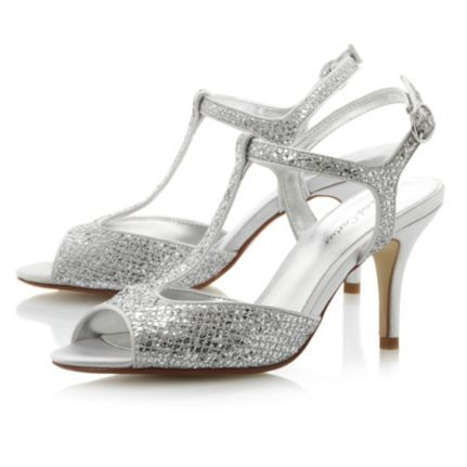 67411316eb8d Roland Cartier Ladies Metallic HALISCO - Glitter T-Bar Heeled Sandal ...