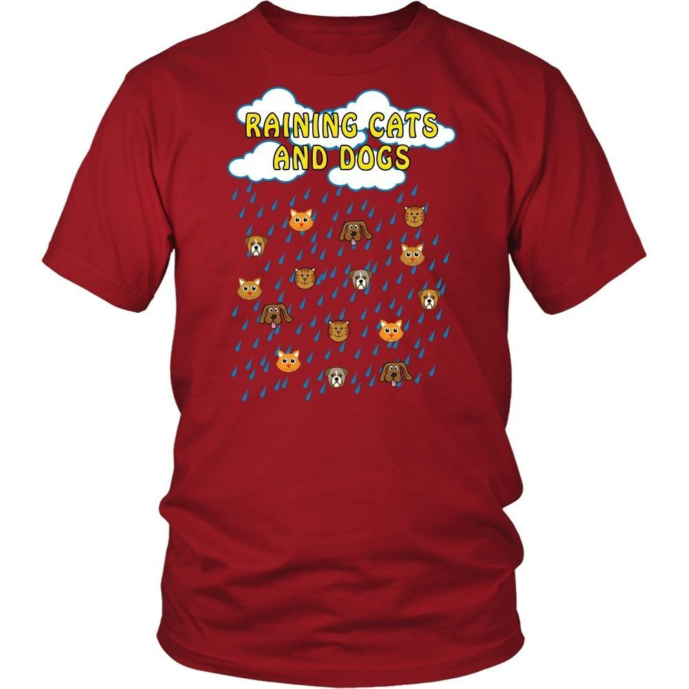 """Dogs And Cats Tee """"Raining Cats And Dogs"""""""