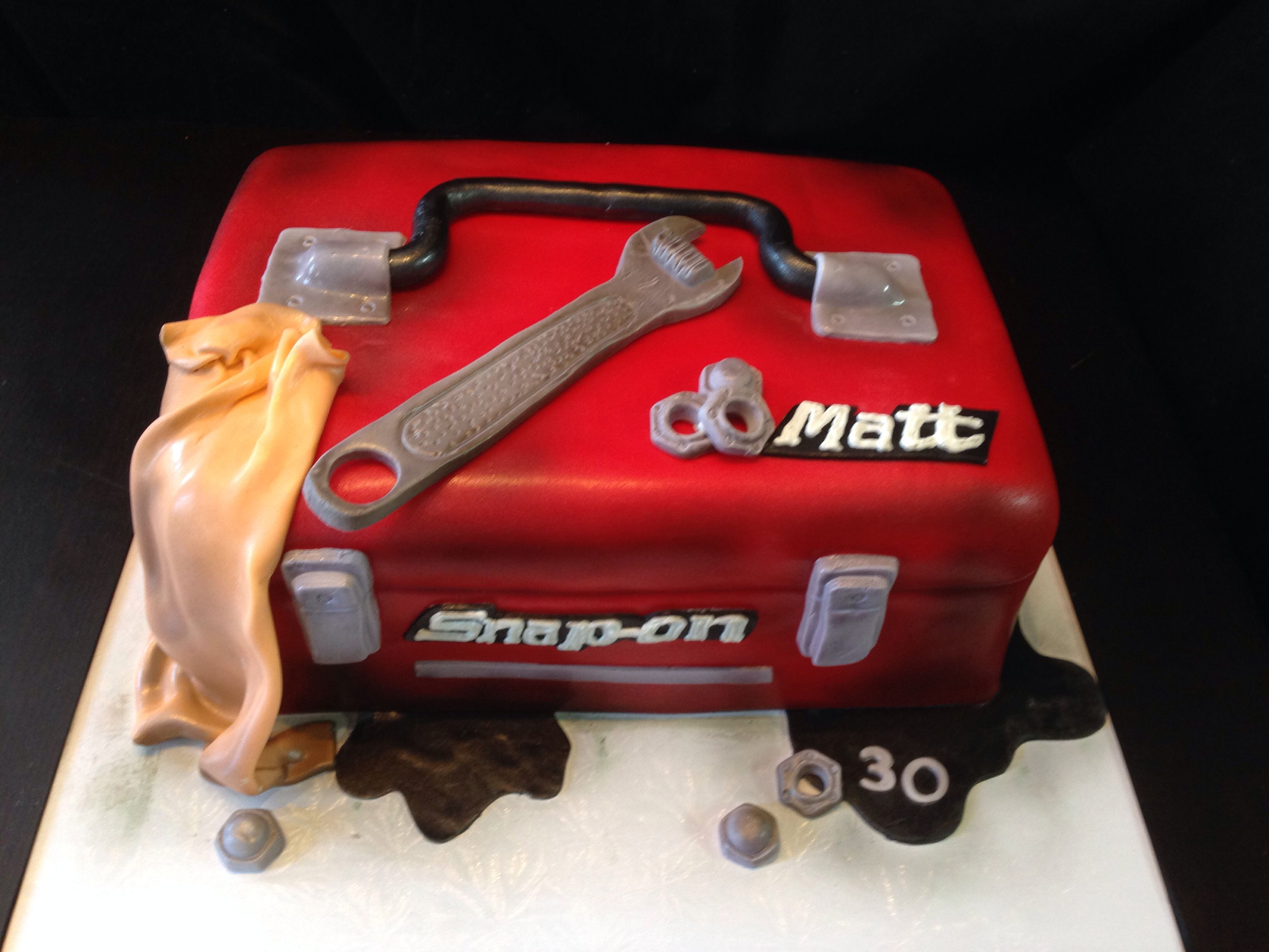 Snap On Toolbox Birthday Cake Cooking Recipes Tool Box Cake