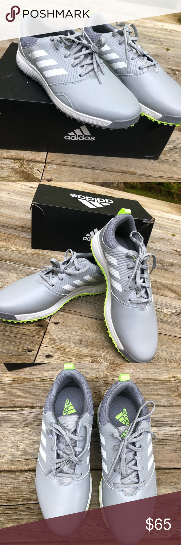 Adidas Golf Shoes Size 10 grey and white mens   Golf shoes, New ...