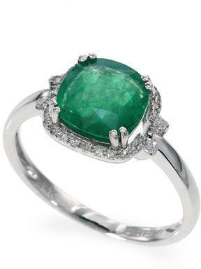 Effy Emerald Diamond and White Gold Ring on shopstyle.com