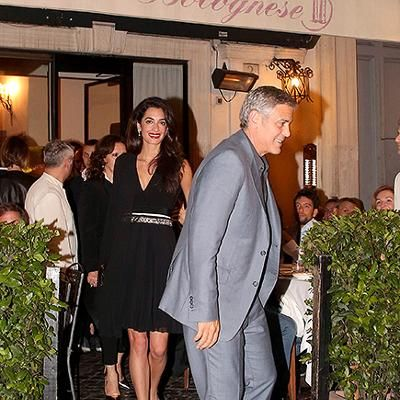 Buzzing: That's Amore: George and Amal Clooney are All Smiles During Date Night in Rome