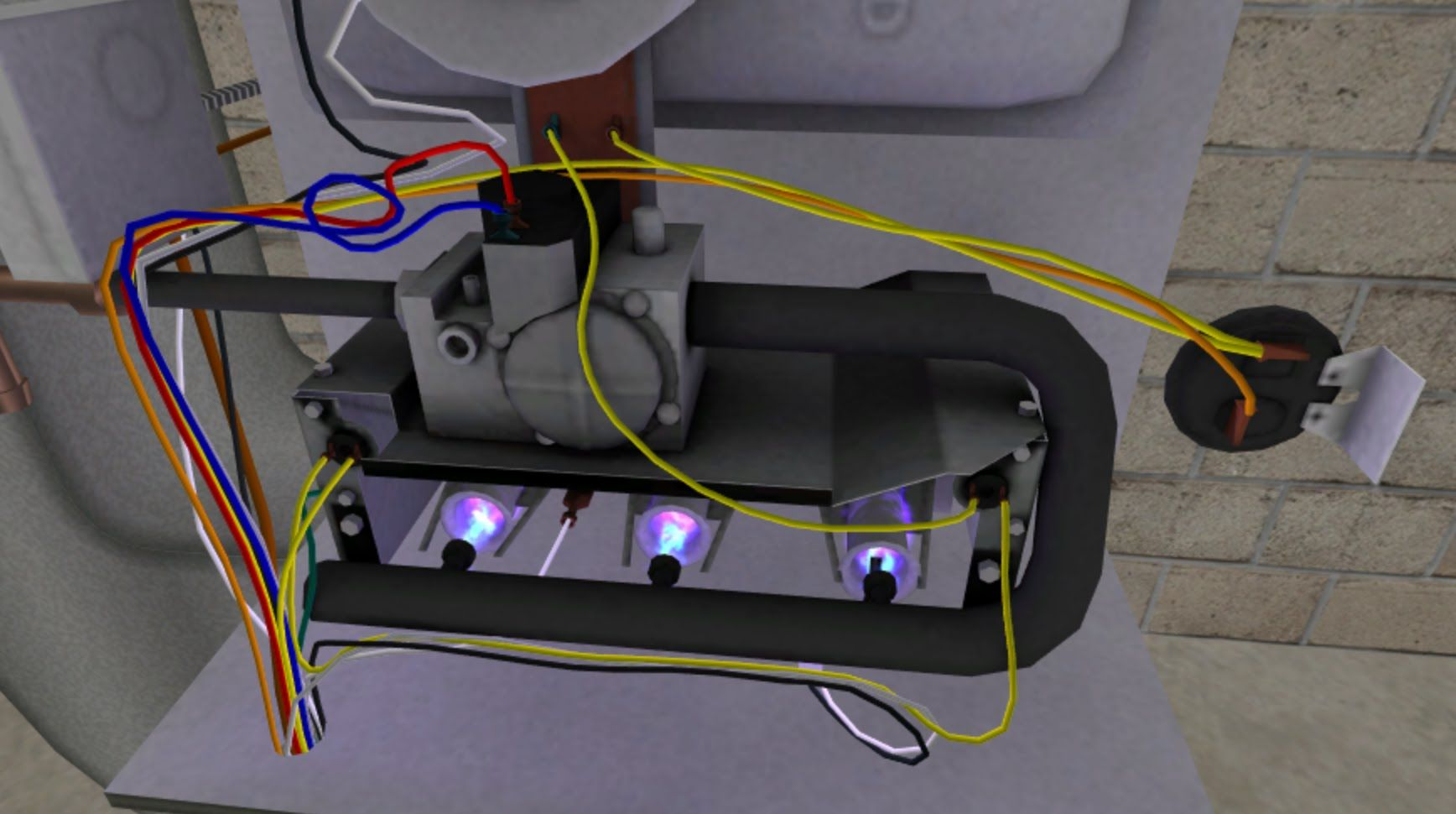 Faulty flame sensor on a gas furnace troubleshooting video