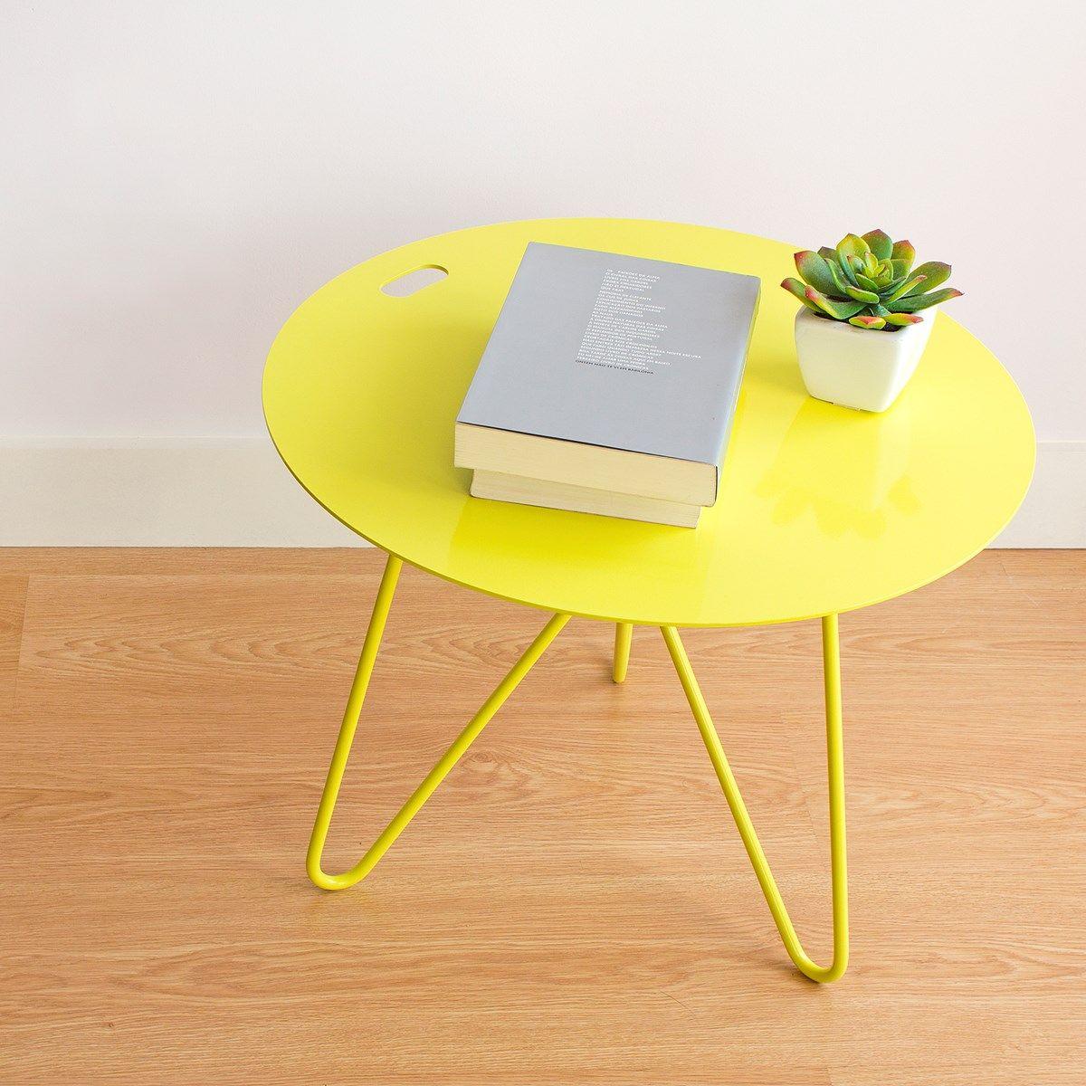 Table Basse Seis Jaune Galula Studio Designerbox Table Metal Table Basse Table Basse Acier