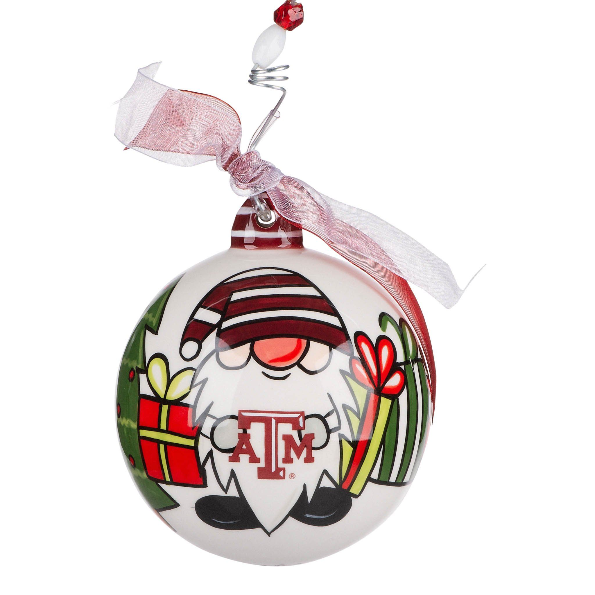 Texas A M Gnome Ornament Painted Christmas Ornaments Ornaments Gnome Ornaments