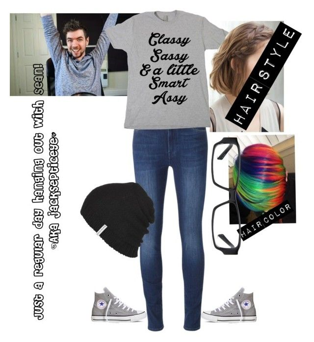 """""""Request- requested by my sister"""" by thatonegamer ❤ liked on Polyvore featuring 7 For All Mankind, Converse and Krochet Kids"""
