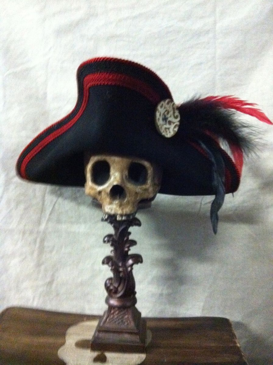 Captain Jack s Pirate Hats LLC... I like the idea of placing a pirate hat  on a skull as decor. a238e7147d73