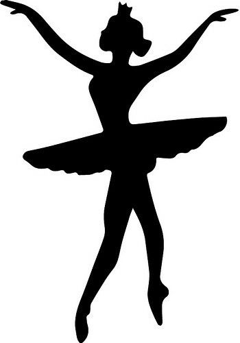 image about Ballerina Silhouette Printable named Ballerina silhouette SVG Cricut things Ballerina