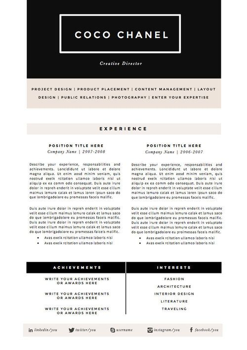 Afficher lu0027image du0027origine Modèles de cv Pinterest Craft - fashion resume template