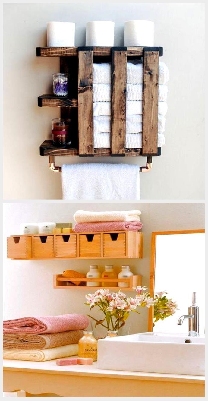 Holz Handtuchhalter rustikale Regale Bad Handtuchhalter
