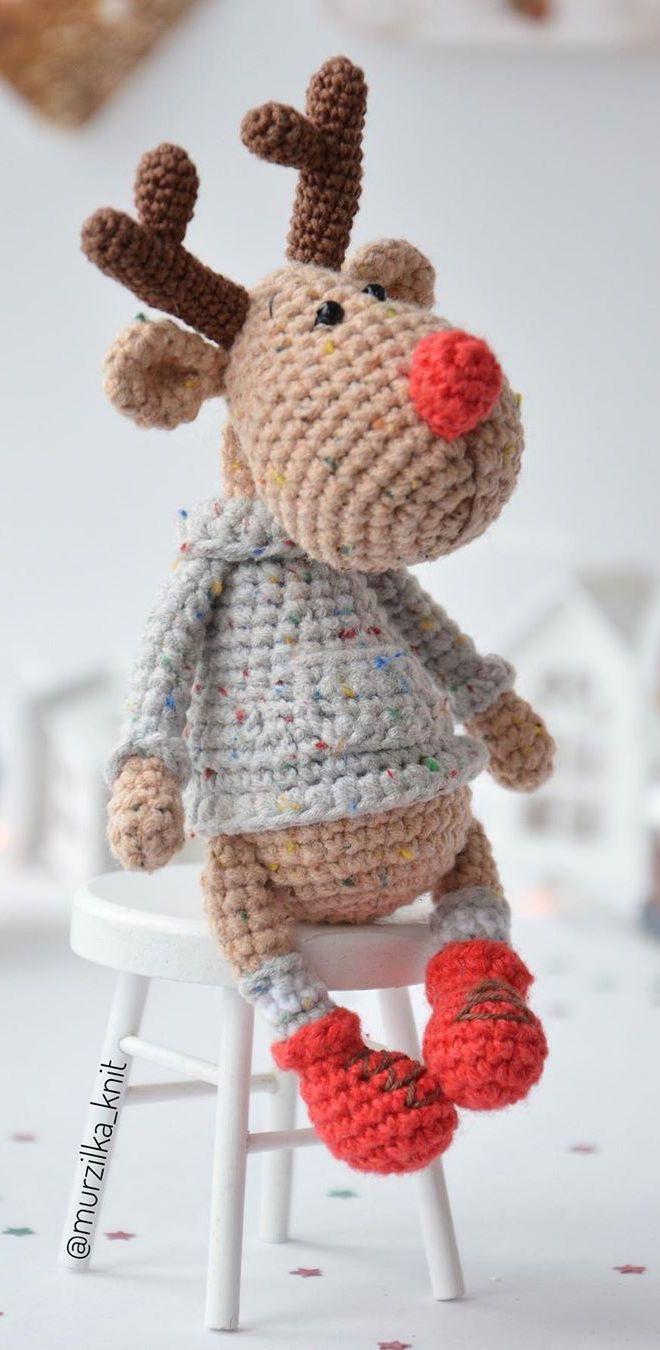 PDF Олень Красавчик крючком. FREE crochet pattern; Аmigurumi patterns. Амигуруми схемы на русском. #amigurumipattern