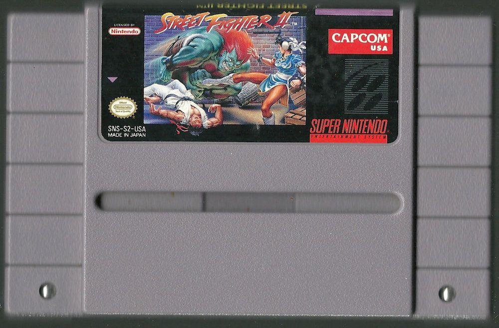 Super Nintendo Snes Street Fighter Ii Video Game Cartridge Capcom