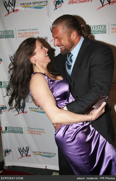 Paul Levesque Triple H  His Wife Stephanie Mcmahon -8780