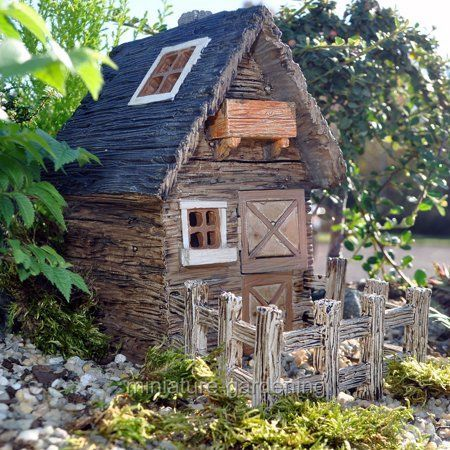 Wholesale Fairy Gardens Outdoor Shed with Fence for Miniature Garden Fairy Gard  Wholesale Fairy Gardens Outdoor Shed with Fence for Miniature Garden Fairy Gard