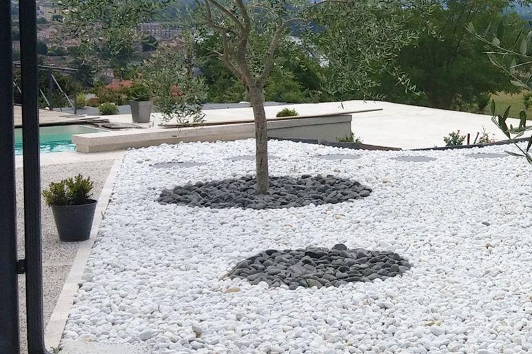 Idee Deco Jardin Galet Blanc Exterior Design Garden Outdoor