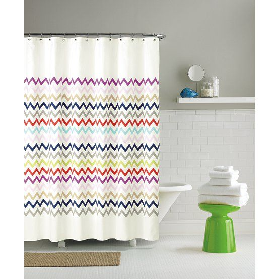 Kate Spade Chevron Shower Curtain Fabric Shower Curtains Cool