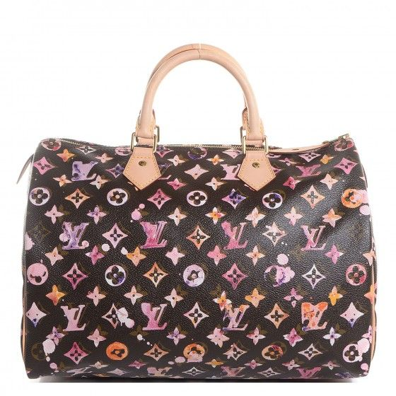 Louis Vuitton Watercolor Aquarelle Speedy 35 Brown Louis Vuitton