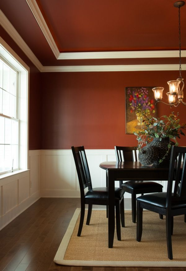 Formal Dining Room With A Tray Ceiling Crown Molding Paneling On