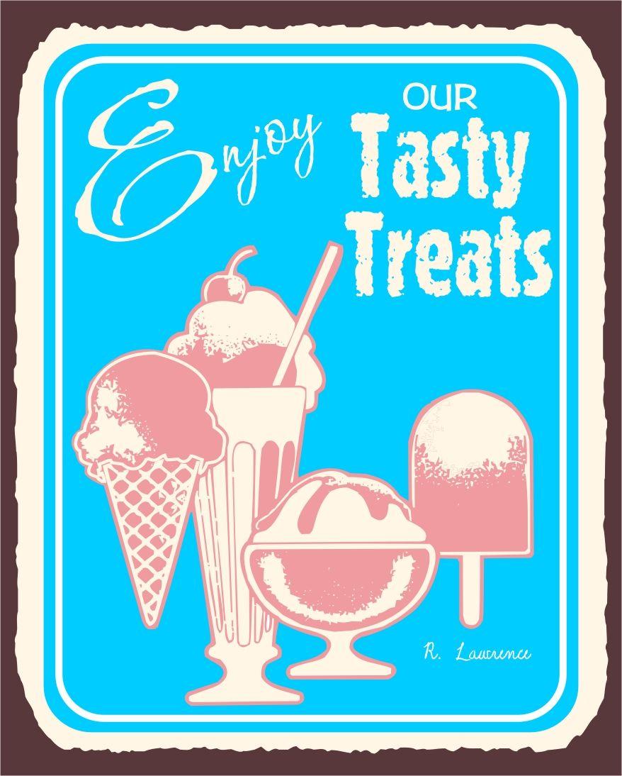 tasty treats ice cream vintage metal art ice cream shop retro tin tasty treats ice cream vintage metal art ice cream shop retro tin sign