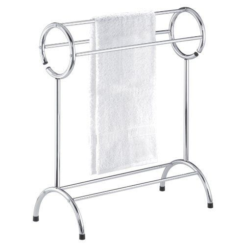 Free Standing Bathroom Towel Rack Chrome Is A Great Way To Dry Towels Between Showers Or Just Display Them For Guests Bath Bathroomdecor
