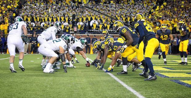 Msu Um Marks Espn S Most Viewed 3 30 P M Game Ever Michigan State Football Michigan State University Colleges In Michigan