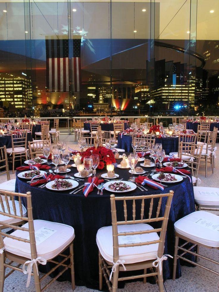new Blue wedding centerpieces, Patriotic wedding