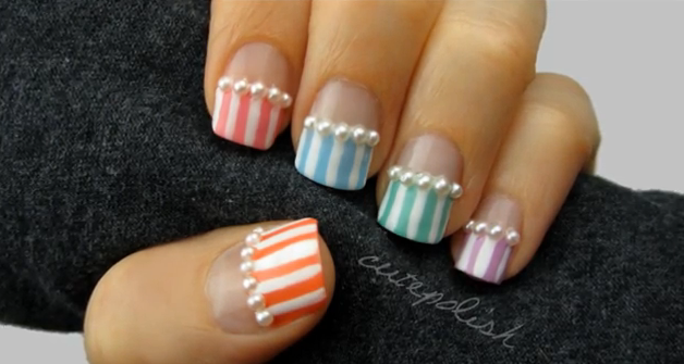 Pearls And Pastels Nails