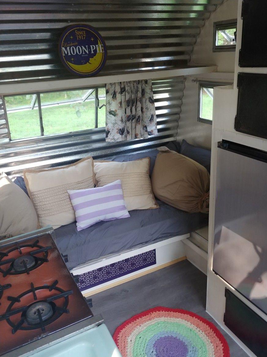 Beautiful Violet 1960s Scotty Highlander Build A Camper Vintage Motorhome Remodeled Campers