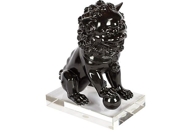 179 Foo Dog On Acrylic Base One King S Lane Pinterest