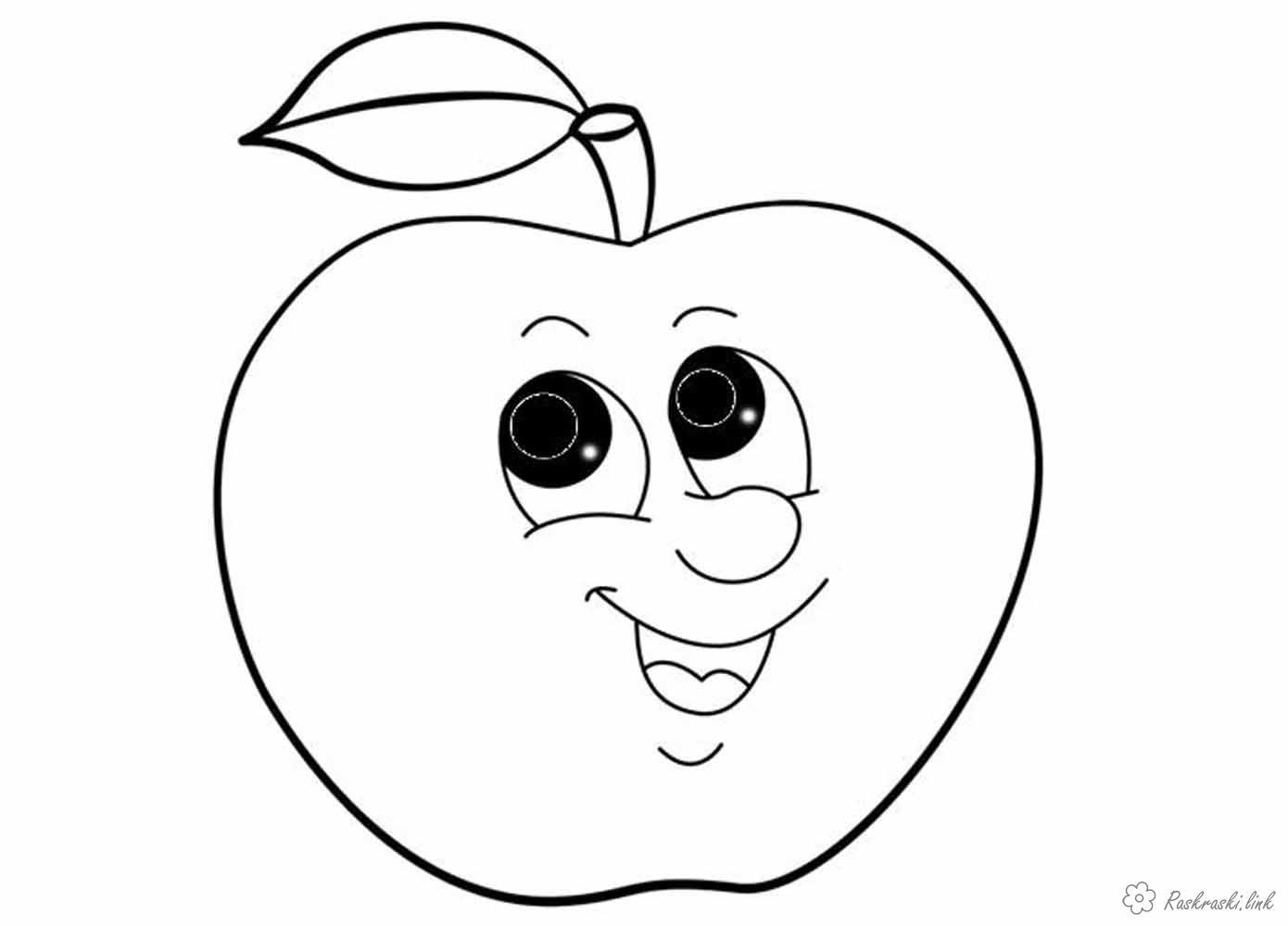 Раскраска яблоки. | Educational worksheets, Clip art