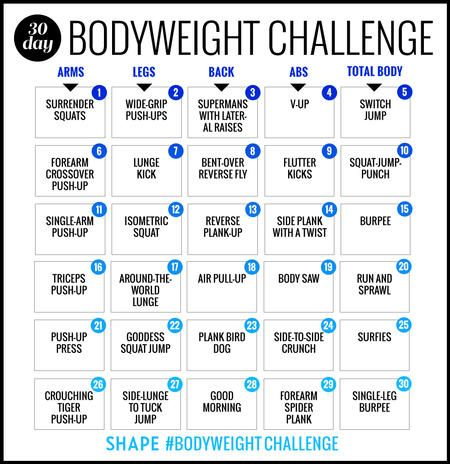 this 30day bodyweight workout challenge will burn your