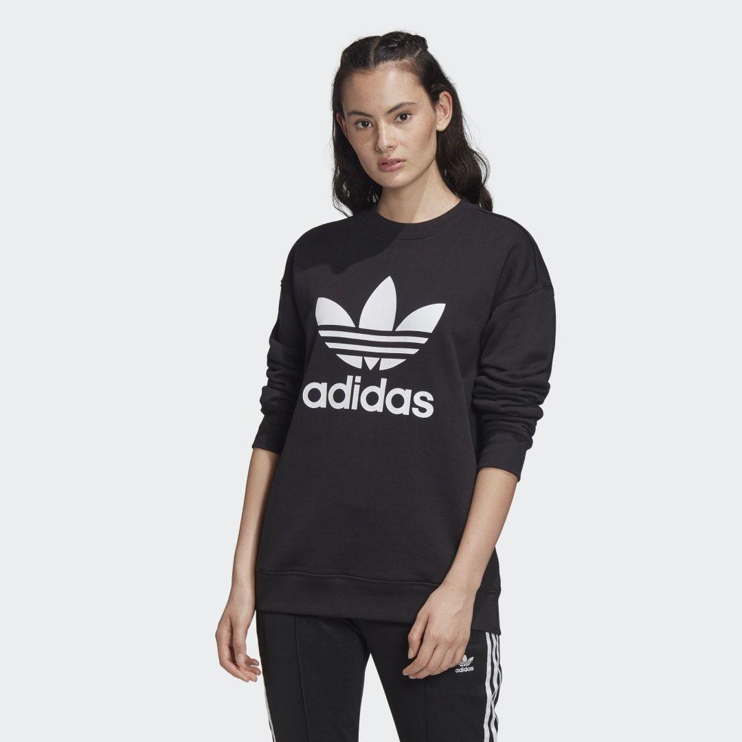 Adidas Trefoil Crew Sweatshirt Black Adidas Us Sweatshirts Black Sweatshirts Crew Sweatshirts [ 1080 x 1080 Pixel ]