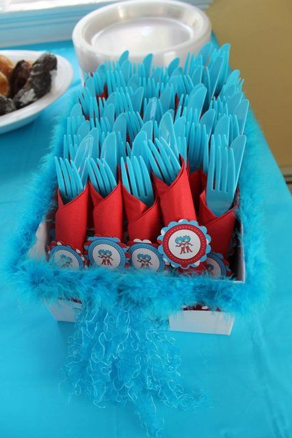 Delightful Thing 1 Thing 2 Baby Shower Party Ideas