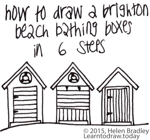 how to draw a beach house
