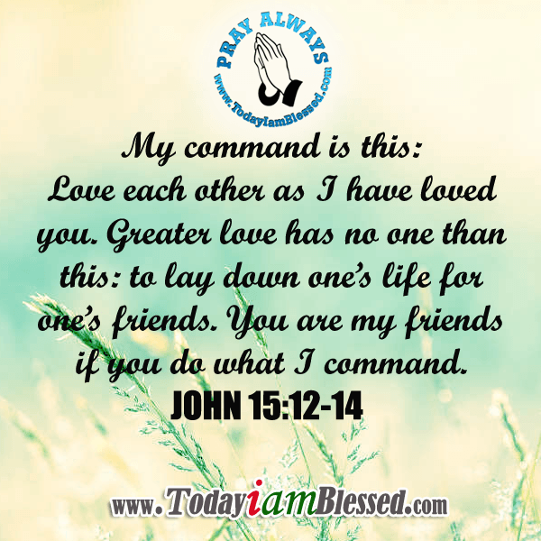 Love Each Other As I Have Loved You: JOHN 15: 12 My Command Is This: Love Each Other As I Have