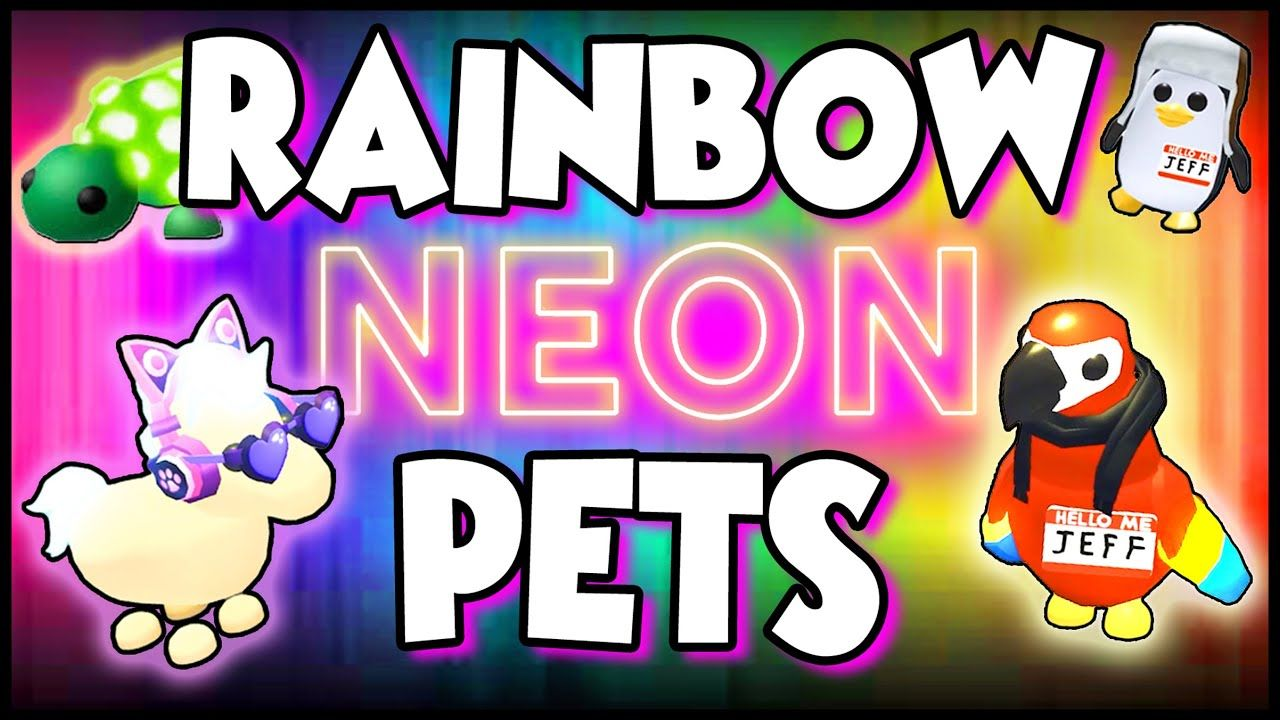 Fastest Way To Get Rainbow Neon Pets In Adopt Me Roblox Prezley Adopt Me Roblox Neon My Roblox