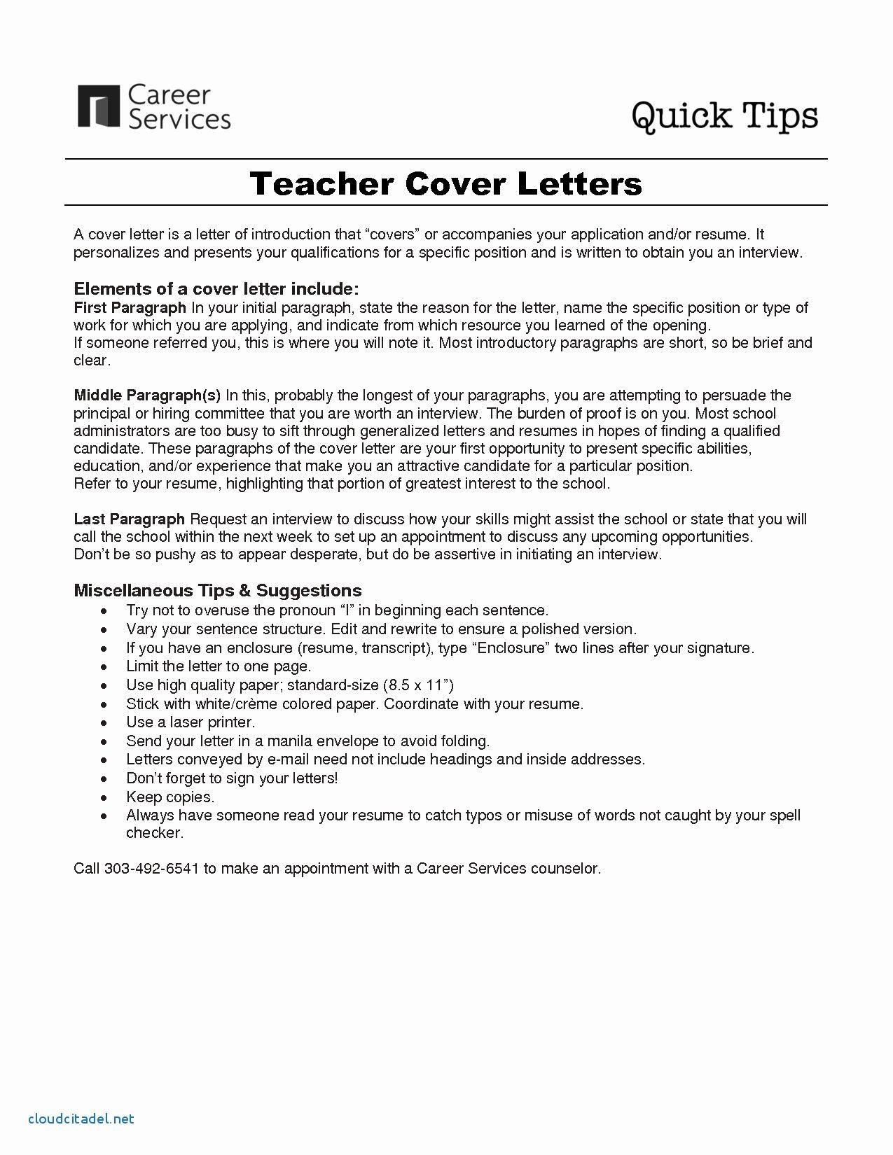 3 Paragraph Cover Letter Template Teaching Cover Letter Teacher